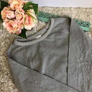 Banana Republic Reversible Polka Dot Sweatshirt